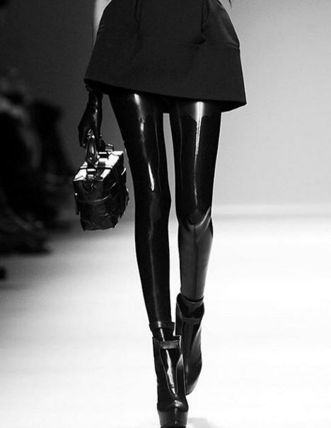 Black Latex Tights On A Date